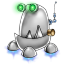 64x64px size png icon of robot trash