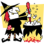 64x64px size png icon of witches cauldron