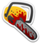 64x64px size png icon of Bloody Chainsaw