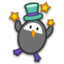 64x64px size png icon of penguin