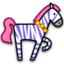 64x64px size png icon of zebra