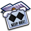 64x64px size png icon of Folder Keep Out