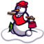 64x64px size png icon of Snow Woman