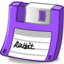 64x64px size png icon of Floppy purple