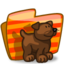64x64px size png icon of Folder Dog