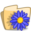 64x64px size png icon of Folder Flower Blue