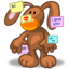 64x64px size png icon of System Apps Stickies