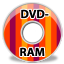 64x64px size png icon of device dvd ram