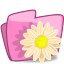 64x64px size png icon of folder flower beige