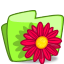 64x64px size png icon of folder flower red