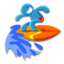 64x64px size png icon of Surf