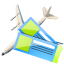 64x64px size png icon of Air tickets