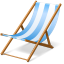 64x64px size png icon of beach chair