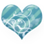 64x64px size png icon of Heart blue