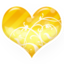 64x64px size png icon of Heart gold