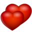64x64px size png icon of hearts