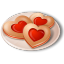 64x64px size png icon of Cookies Hearts
