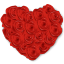 64x64px size png icon of Flowers Heart Roses