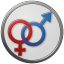 64x64px size png icon of Sex Male Female Circled
