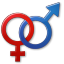 64x64px size png icon of Sex Male Female