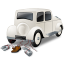 64x64px size png icon of Wedding Car Back
