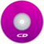 64x64px size png icon of CD Purple