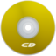 64x64px size png icon of CD Yellow