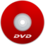 64x64px size png icon of DVD Red