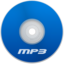 64x64px size png icon of Mp3 Blue