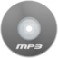 64x64px size png icon of Mp3 Gray