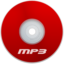 64x64px size png icon of Mp3 Red