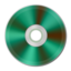 64x64px size png icon of Green Metallic CD