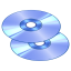 64x64px size png icon of Disks
