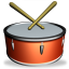 64x64px size png icon of Drum SH