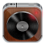 64x64px size png icon of music player wood