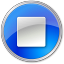64x64px size png icon of Stop Normal Blue