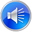 64x64px size png icon of Volume Normal Blue