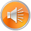 64x64px size png icon of Volume Normal Orange