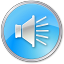 64x64px size png icon of Volume Pressed Blue