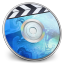 64x64px size png icon of iDVD BLUE Smoke