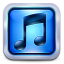 64x64px size png icon of Square Blue Steel