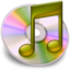 64x64px size png icon of iTunes geel
