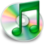 64x64px size png icon of iTunes groen