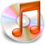 64x64px size png icon of iTunes oranje