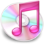 64x64px size png icon of iTunes roze