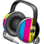 64x64px size png icon of CMYK headphones