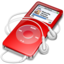64x64px size png icon of ipod nano red