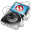 64x64px size png icon of ipod video black no disconnect