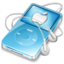 64x64px size png icon of ipod video blue apple