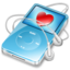 64x64px size png icon of ipod video blue favorite